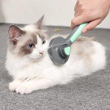 Pet Hair Brush Pet Comb Self Cleaning Brush Professional Grooming Brush For Dogs And