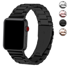 цена на metal strap for apple watch 4 5 band 44mm 40mm apple watch band 42mm 38mm iwatch series 5/4/3/2/1 Stainless Steel bracelet belt