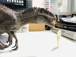 Image 5 - W magazynie! Nanmu 1:35 skala Bereserker Rex Model dinozaura rysunek kolekcjonerski wystrój prezent z oryginalnym pudełku z tworzywa sztucznego rzemiosła