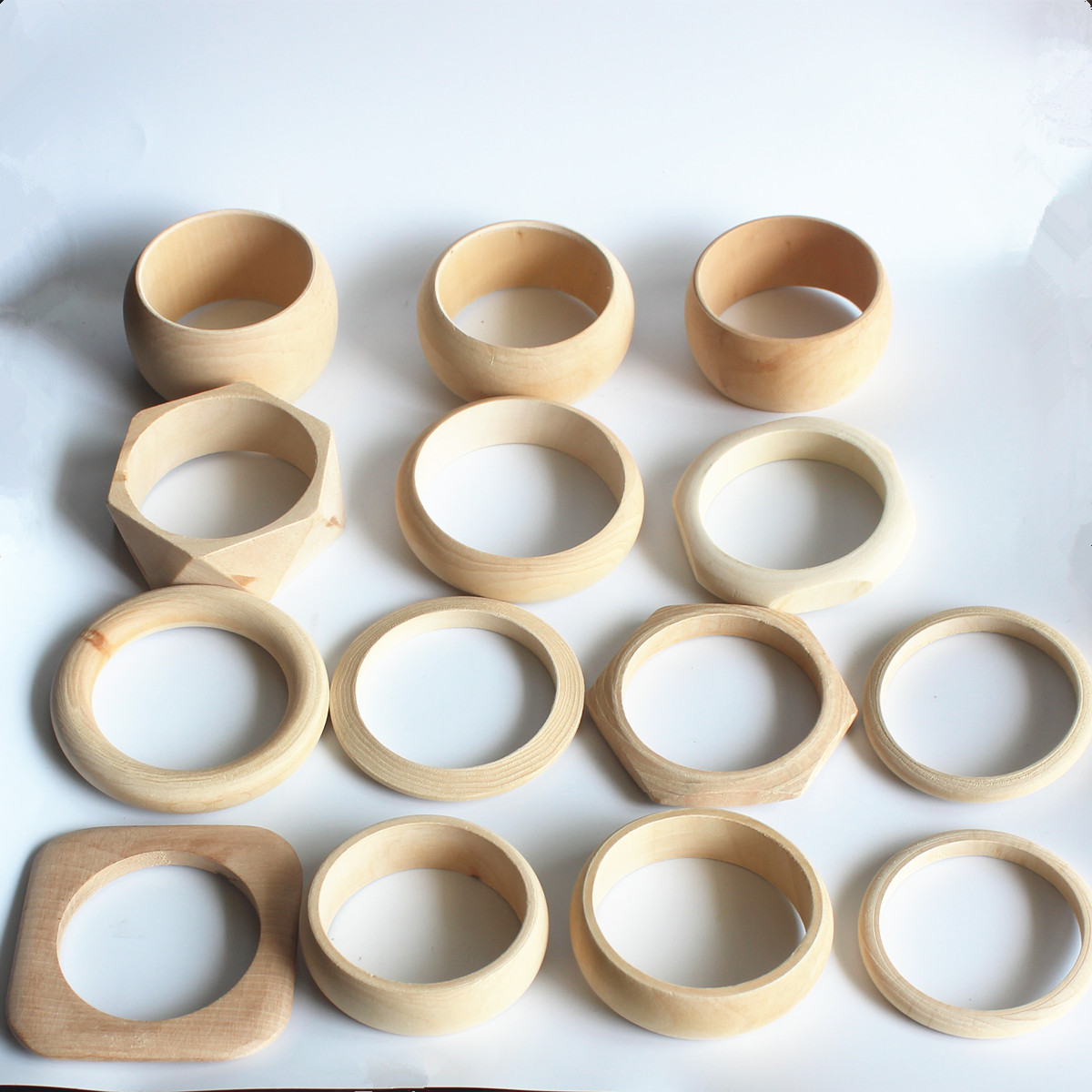 plain set of 10 unfinished wooden bangle party favor bachelorette party eco friendly DIY gift unpainted wooden stacking bracelet