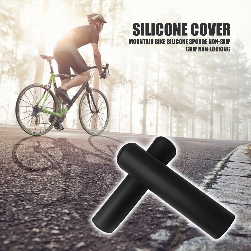 1Pair Anti-slip Sponge Handlebar Grips For Mountain Bike Bicycle Cycling