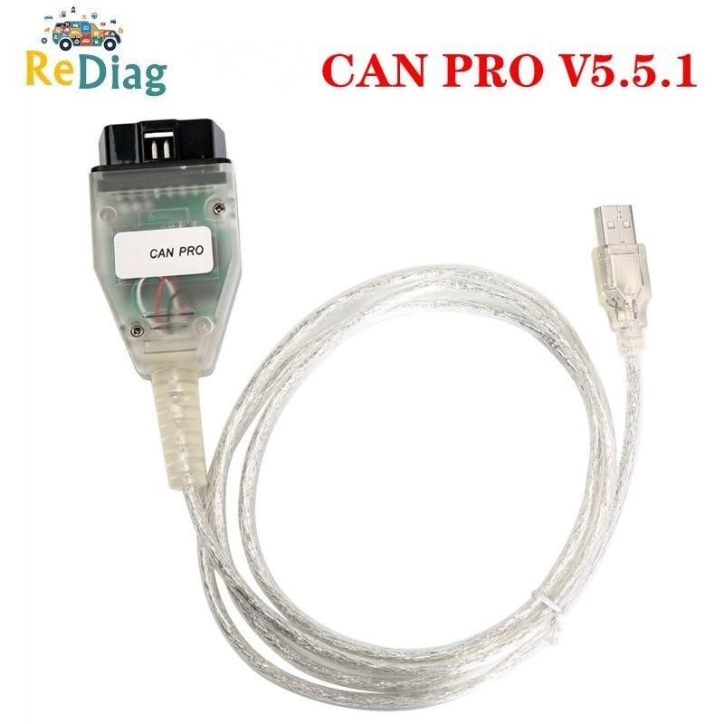 Nuevo puede PRO V5.5.1 apoyo autobús UDS KLine para AUDI sin Dongle USB con FTDIFT245RL Chip VCP OBD2 interfaz de diagnóstico