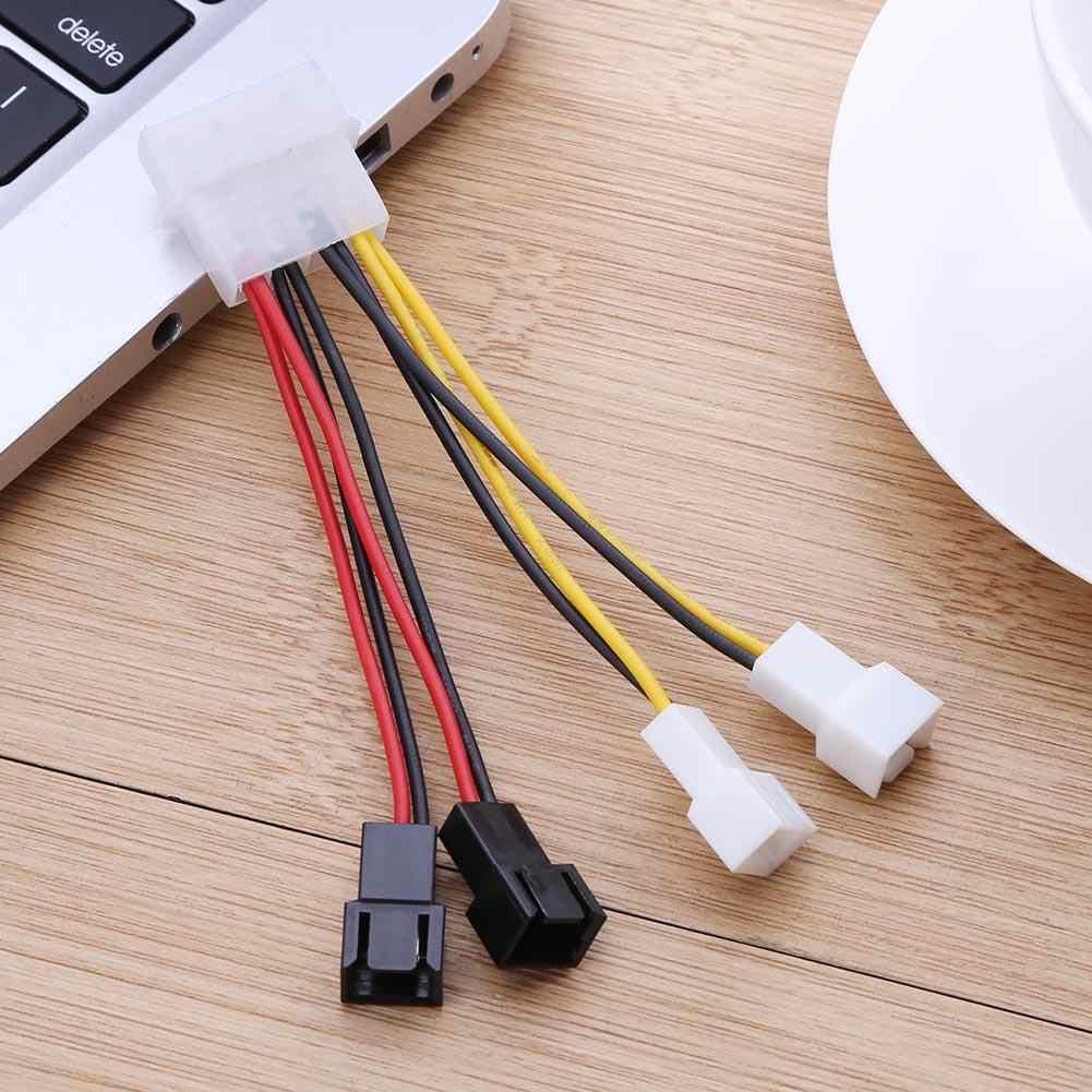 1個4ピンモレックス3ピンファン電源ケーブルアダプタのコネクタに12v * 2 / 5v * 2コンピュータ冷却ファンケーブルcpu pcケースファン