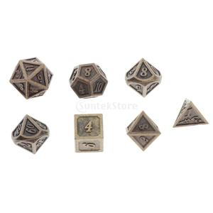 7Pcs Polyhedral Dice Double-Colors Polyhedral Board Game Dice for RPG DND RPG MTG D20 D12 D10 D8 D6 D4 Table Game