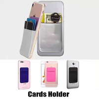 Funda trasera Flexible para teléfono móvil, funda elástica para tarjetas de crédito, identificación, pegatina, bolsillo delgado para iPhone 12 X Samsung S10
