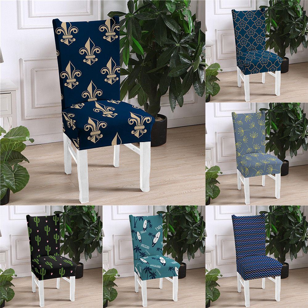 Spandex Chair Cover Stretch Elastic Dining Seat Cover Banquet Wedding Restaurant Hotel Anti dirty Removable housse