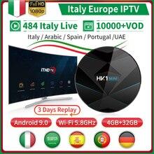 Italia IP TV France Arabic IPTV Italy HK1 MINI+ Android 9.0 4G+32G BT Dual-Band WIFI Turkey Portugal Spain IPTV France Receiver ithdtv italy iptv france arabic spain ip tv hk1 mini android 9 0 4g 32g dual band wifi bt ip tv france italia iptv spain ithdtv