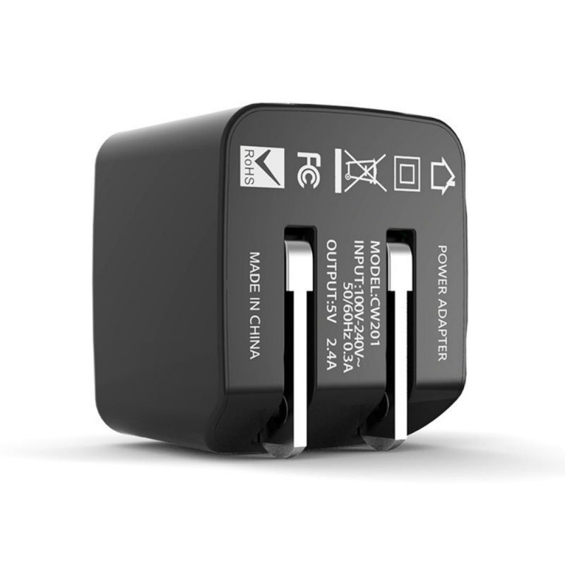 <font><b>USB</b></font> Charger Wall Charger 5V 4A Output Dual <font><b>USB</b></font> Ports Folding Portable Plug Charging Block <font><b>Power</b></font> <font><b>Adapter</b></font> image