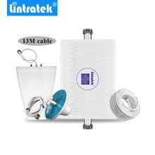 Lintratek 3G 4G สัญญาณ Booster Dual Band UMTS 3G 2100 MHz DCS 4G LTE 1800 MHz 70dB HIGH GAIN โทรศัพท์มือถือสัญญาณ repeater ALC AGC *