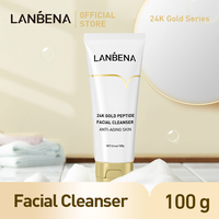 LANBENA Face Cleanser 24K Peptide Anti Aging Dense Foam Facial Cleaner Unclog Firming Antioxidant Grease Dirt Cleaning Skin Care 5