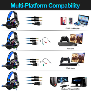 Image 5 - JOINRUN PS4 Gaming Headphones Stereo RGB Marquee Earphones Headset with Microphone for New Xbox One/Laptop/PC Tablet Gamer