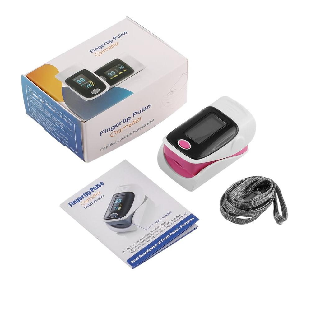 Portable Fingertip Pulse Oximeter With OLED Display Oximeter Blood Oxygen Monitor Heart Rate Measurement Through Fingertip