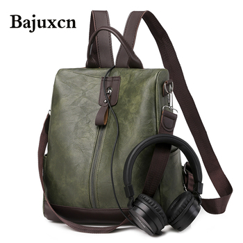 Fashion Women Backpack High Quality Youth Leather Backpacks for Teenage Girls Female School Shoulder Bag Bagpack mochila 2020new high quality women genuine leather backpacks casual female anti theft backpack for girls shoulder bags mochila feminina bagpack