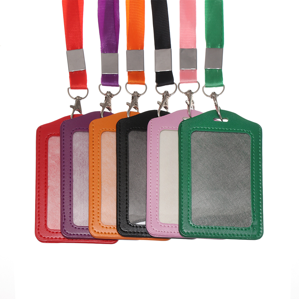 Hot Sale No Zipper Cheap Bank Credit Card Holders Bus ID Card Holders Identity Badge With Retractable Reel Tag Office Supplies