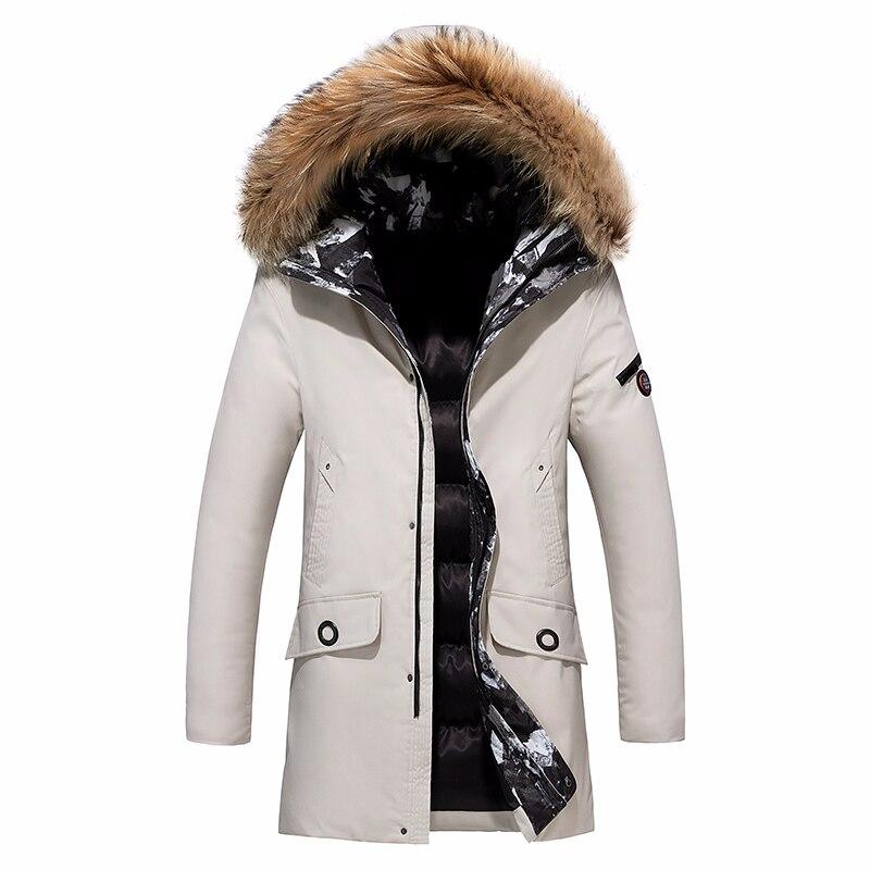 8XL мужские 2019 зимние Длинные повседневные теплые толстые меховые куртки с воротником мужские парки новые роскошные ветрозащитные водонепроницаемые парки с капюшоном мужские пальто