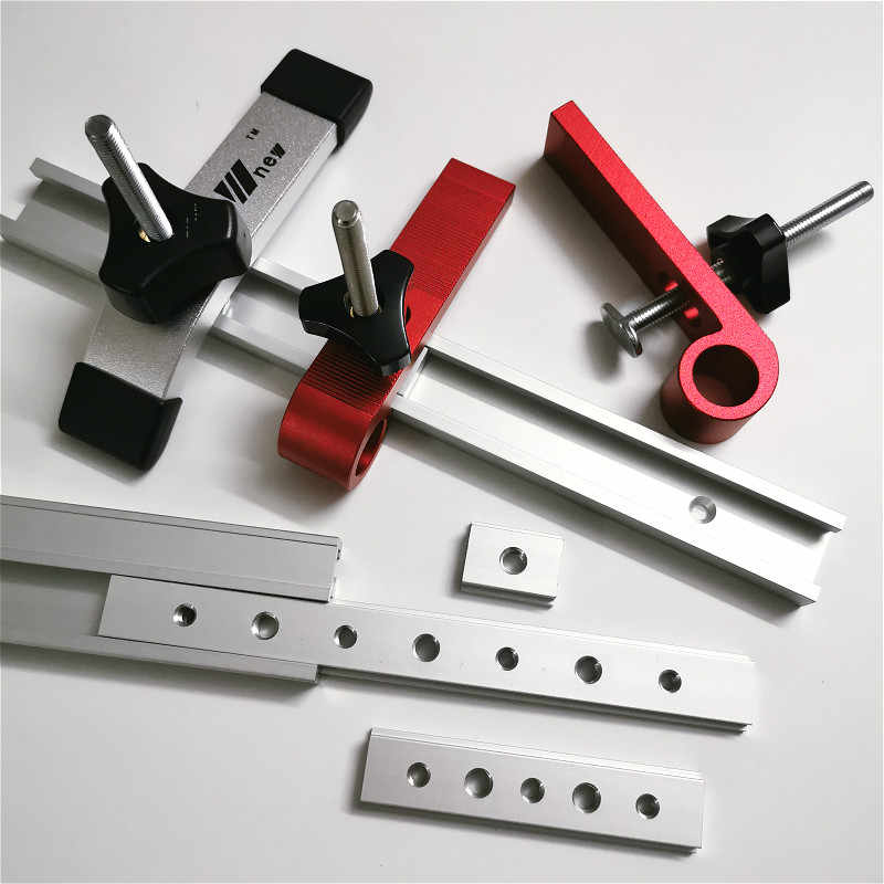 Goick Woodworking T Slot Block Clamp Carpentry Pressboard Clamp Kit Multi-Purpose T Track Clamp Carpentry Accessory