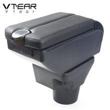 Vtear Für KIA K2 RIO 3 Rio 4 Armlehne Box Zentralen Speicher Inhalt Box Mit Tasse Halter Produkte Innen Auto-Styling Zubehör