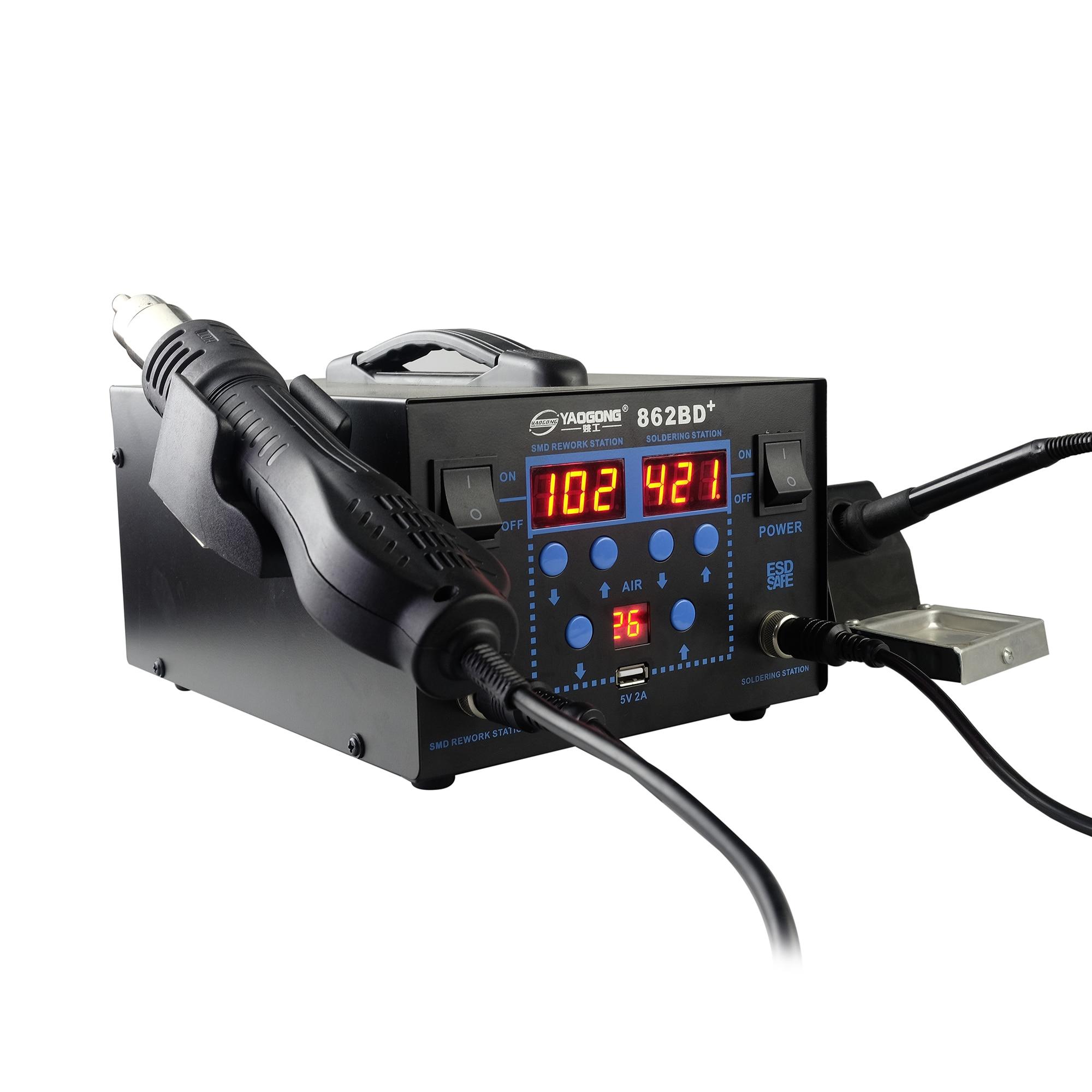 750 W skystųjų kristalų ekranas, reguliuojamas temperatūros 862BD - Suvirinimo įranga - Nuotrauka 2