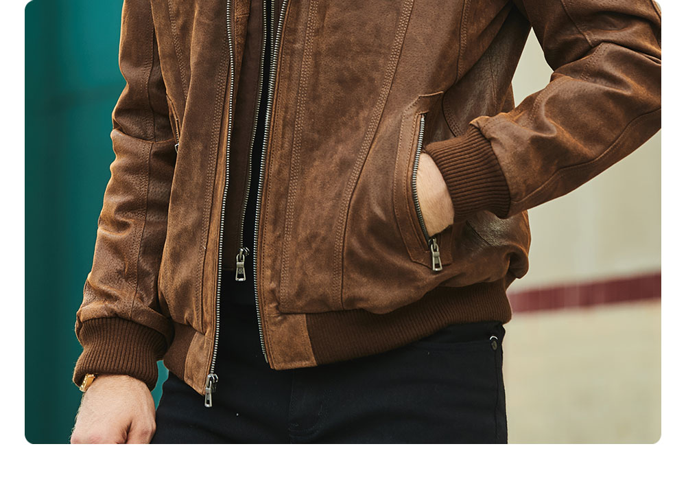 Hf9cd6f0a41c94ad2adae930d0efb4186f FLAVOR New Men's Real Leather Jacket with Removable Hood Brown Jacket Genuine Leather Warm Coat For Men