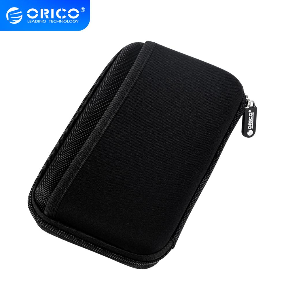 ORICO PHE-25 2.5 Inch External Hard Drive Carrying Case Electronics Accessories Travel Organizer Storage Bag - Black
