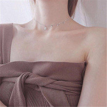 925 silver necklace Hollow out a star A birthday present Set auger Womens fashion jewelry