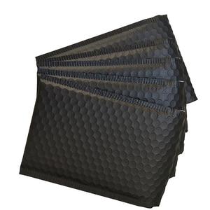 Image 2 - New 60Pcs 150 x 180mm Matte Black Bubble Envelopes Bags Mailers Padded Shipping Envelope with Bubble Mailing Aluminum Foil Bags