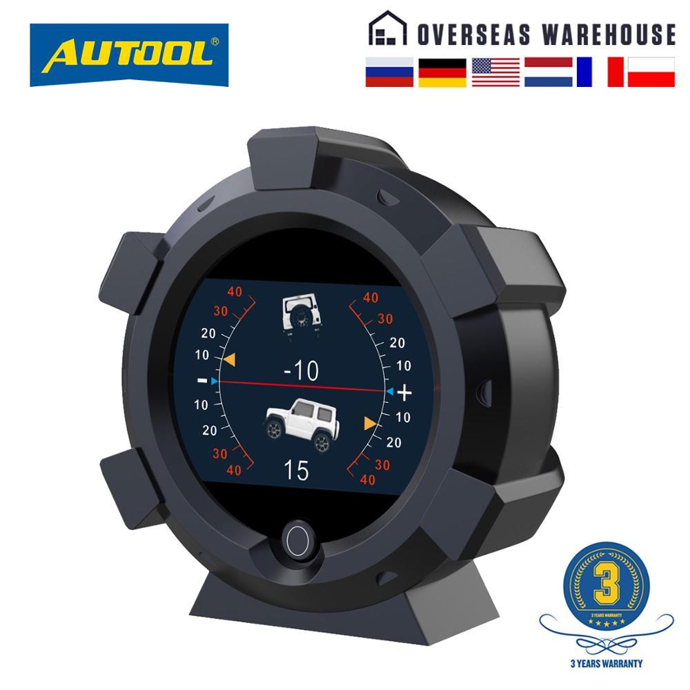 Autool X95 多機能gps速度pmh kmh傾斜計傾斜計車コンパスピッチ傾斜角分度器緯度経度