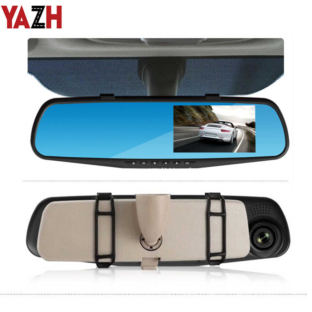 YAZH 4.3 Inch Rearview Mirror Car DVR Camera HD 1080P Car Mirror Video Recorder Rear View Camera Car Screen Mirror Dash Camera