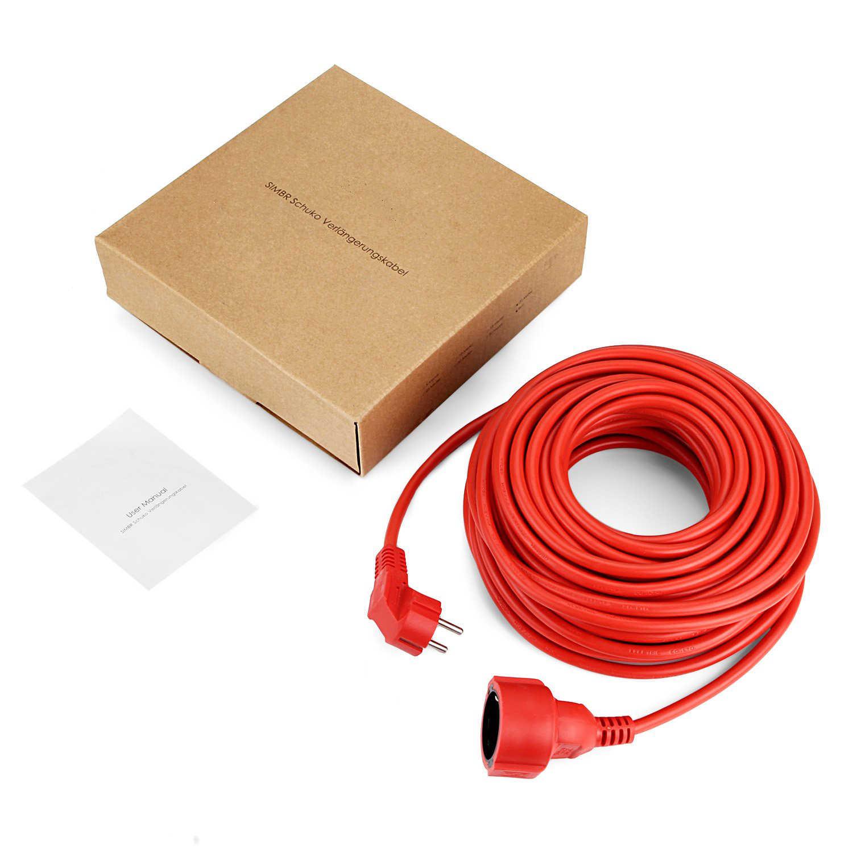 Power Strip Verlengsnoer 5/10/20 M Kabel Eu Plug Outlets 4000 W Elektrische Schuko Rode Kleur indoor Sockets IP20