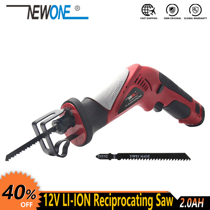 12V Lithium Power Tool Electric Reciprocating Saw Saber Saw Hand Saw Portable Rechargeable Cordless Saw Jig Saw Multi Function
