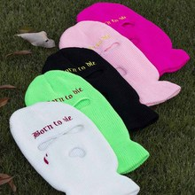 Hat Tactical-Mask Running-Mask Halloween Ski 3-Hole Cycling-Hat Embroidery Limited Party