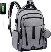 Plecak na pieluchy, wielofunkcyjne torby do przewijania dziecka LOVEVOOK Unisex plecak podróżny, wyposażony w Port ładowania USB i Paci