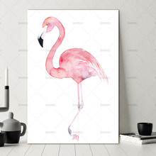 painting Watercolor Flamingo Canvas Art Print Painting Poster Giclee Decor Wall Pictures for Home Decoration