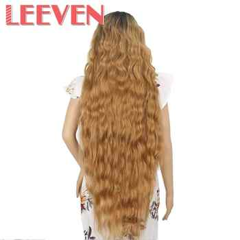 Leeven Synthetic Lace Front Wig Black Water Wave Wigs For Woman Long Hair Wigs Black Brown 613 Blonde Wig Cosplay Hair