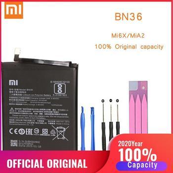 Original Phone Battery for Mi6X MiA2 Battery Xiaomi Mi 6X A2 BN36 Batteries Xiomi bateria for Xiaomi Mi6X MiA2