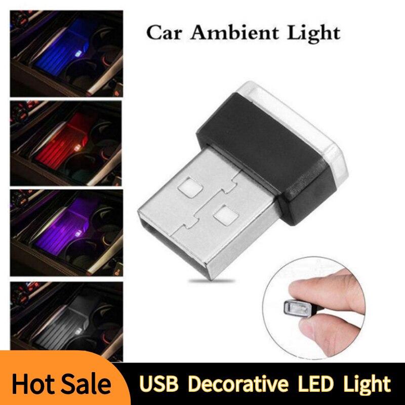 7 couleurs Mini USB lumière LED modélisation lumière voiture lumière ambiante néon intérieur lumière voiture intérieur intérieur voiture lumière nouvelle lumière