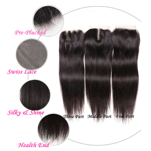 Image 4 - Brazilian Straight Lace Closure Free Part 150% Density Julia Lace Closure Pre Plucked If Middle/Three Part Closure Contact US
