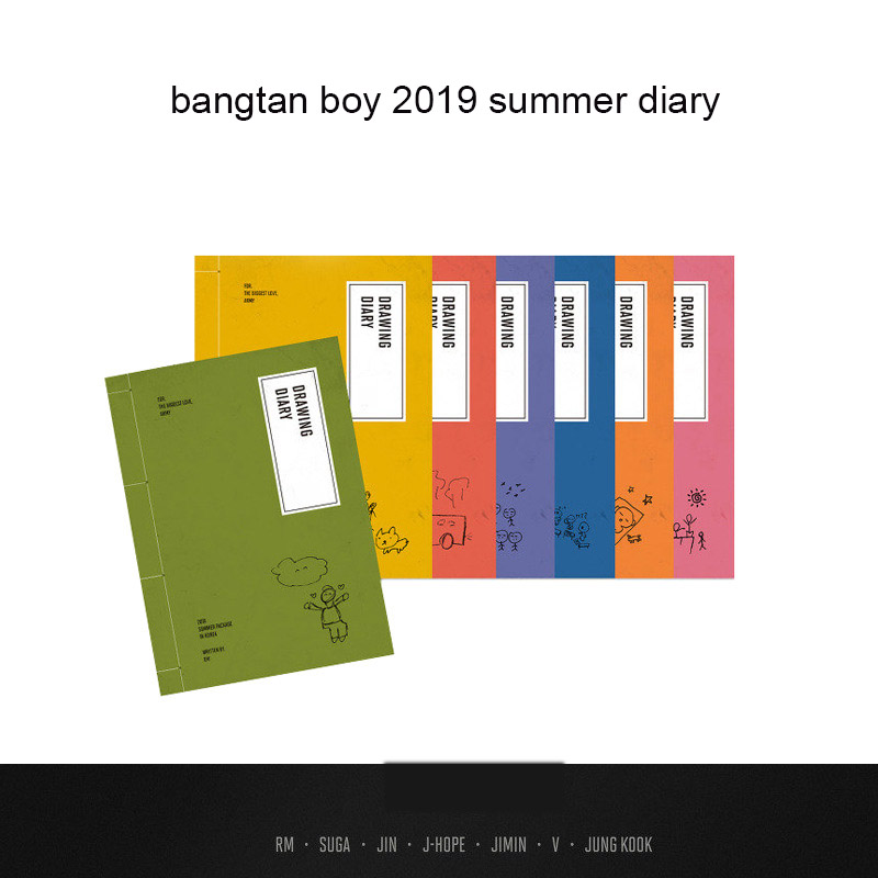 Kpop Bangtan Boy 2019 Summer Photo Album Same Paragraph Periphery Individual Journal Selfie Book Fans Gift