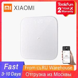 XIAOMI MIJIA Mi Smart Scale 2 Bathroom Digital electronic floor scale Object weight Balance LED screen Bluetooth Mifit APP 150kg