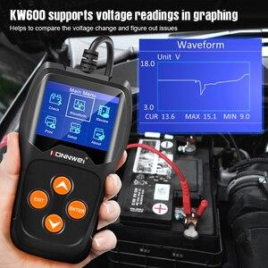 Image 2 - KONNWEI – testeur de batterie de voiture KW600, analyseur 12V, 100 à 2000CCA, Test de santé de la batterie/défauts, écran couleur numérique 12V, Diagnostic automatique