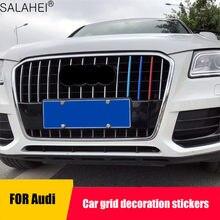 Tira decorativa de tres colores para Audi Q3 /Q5, malla Q5, Red China, tira de rejilla brillante modificada, pegatina para decoración de coche, 3 unidades