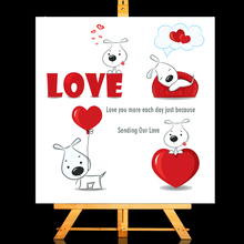 ZhuoAng Cute dog Clear Stamps/Card Making Holiday decorations For  scrapbooking Transparent stamps 13*13cm