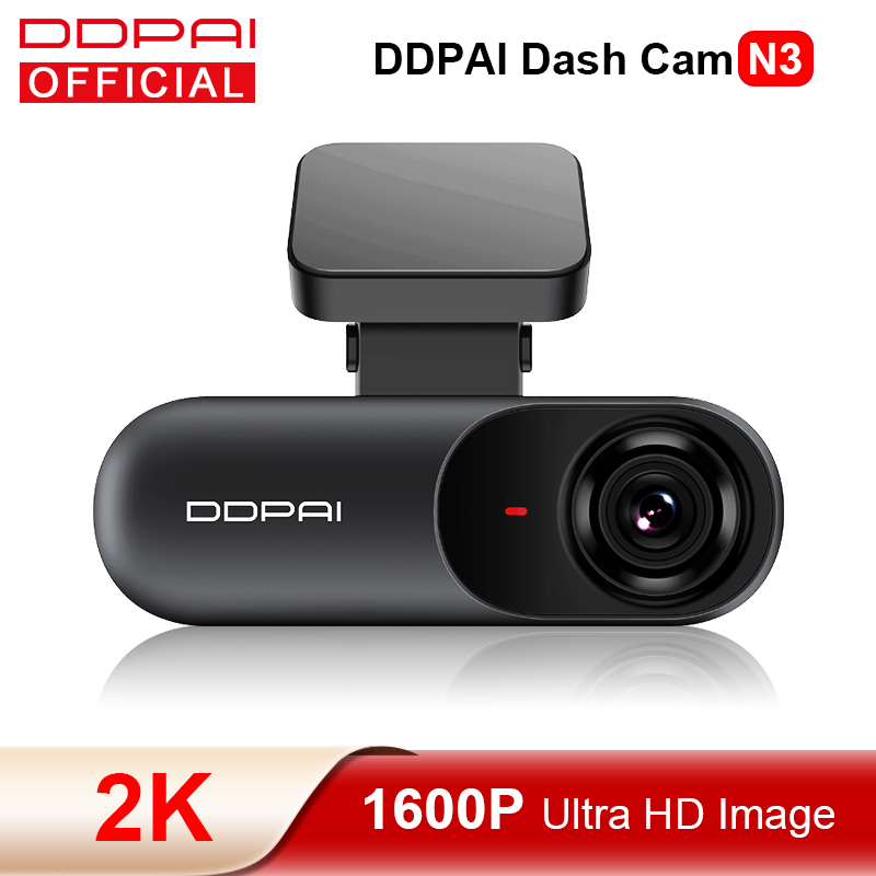 DDPAI Dash Cam Mola N3 1600P HD GPS Vehicle Drive Auto Video DVR Android Wifi Smart