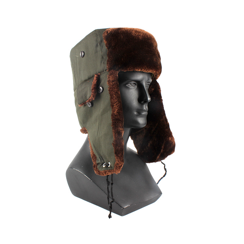 Yu Feng High Grade Cashmere Wool Cotton Cap Earmuff Care Face Labor Safety Warm Hat Winter Cold Storage Cold Cotton Ushanka