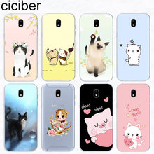 Ciciber สำหรับ Samsung Galaxy J8 J6 J7 J5 J4 J3 J2 J1 Pro Core Prime mini Plus 2016 2017 2018 Soft TPU ดอกไม้สัตว์แมว(China)