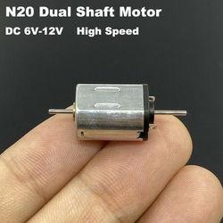 10 мм x 12 мм x 15 мм Micro N20 двигатель постоянного тока 9 в 6 в-12 в 20000 ОБ/мин высокоскоростной Электродвигатель 1 мм двойной выходной вал «сделай сам...