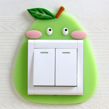 Cartoon 3D Light Switch Sticker Funda Wall Silicon on Children Luminous  Home Decoration Stickers