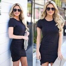 2019 Summer New Fashion O Neck Binding Bow Wrap Bodycon Dress Tie Waist Sexy Slim Short Sleeve Mini Sundress Elegant Vestidos tie neck contrast binding ruffle dress