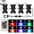 10 шт. светодиодный подводная подсветка для фонтана пульт дистанционного управления RGB 36-светодиодный подводный источник света IP68 для воды с...