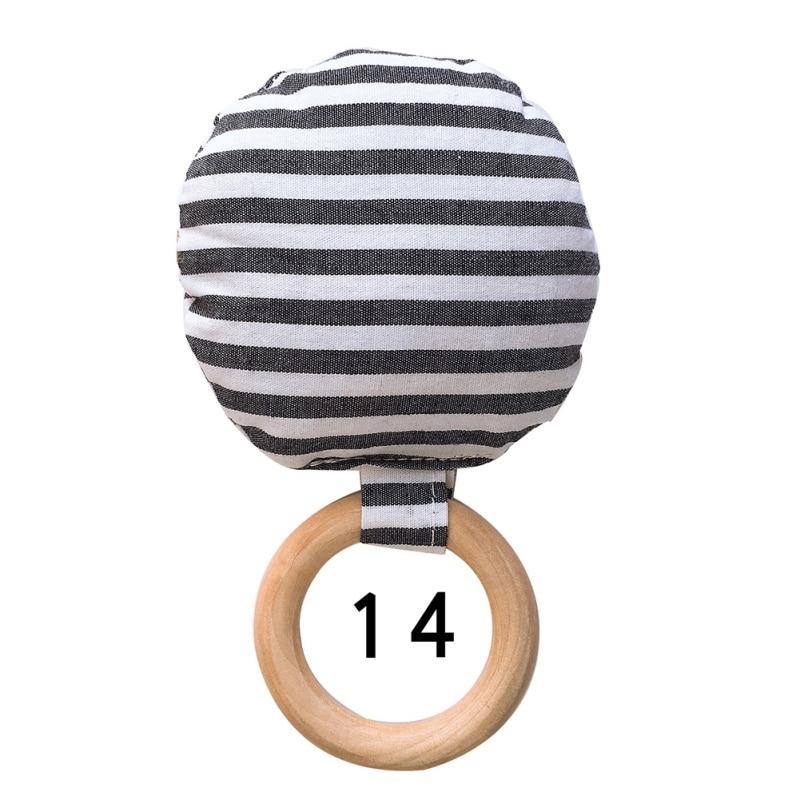 Портативный для новорожденных Детское Зубное кольцо жевательные Прорезыватель для зубов ручной безопасная, из дерева натуральное кольцо молочных зубах упражняющая игрушка в подарок - Цвет: N